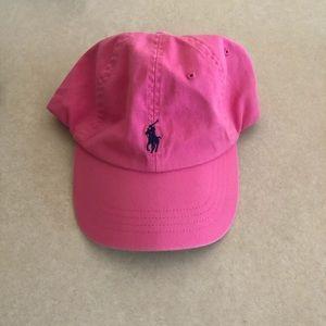 Pink Ralph Lauren cap.